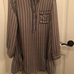 BCBGMaxAzria shirt dress size med multi color
